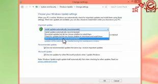 غیر فعال سازی آپدیت خودکاردر ویندوز 8
