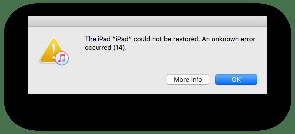 رفع Error 14 هنگام نصب iOS 10