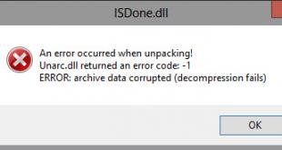 حل مشکل نصب و یا اجرا نشدن بازی های بلک باکس با ارور Isdone.dll و Unarc.dll