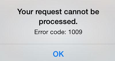 رفع ارور 1009 در iTunes و App Store