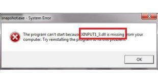 Xinput1_3.dll error