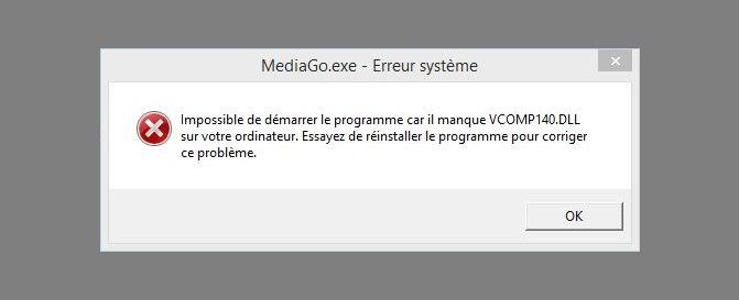 vcomp140.dll error