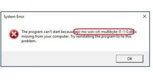 api-ms-win-crt-multibyte-l1-1-0.dll error