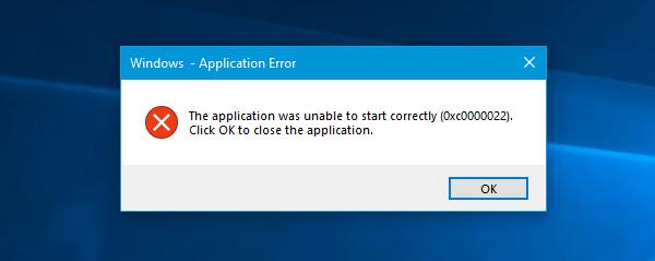 error 0xc0000022