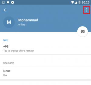 آموزش خروج از اکانت Telegram