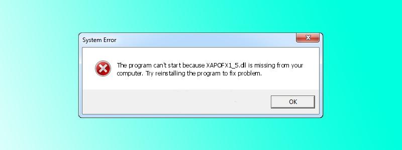 xapofx1_5.dll error