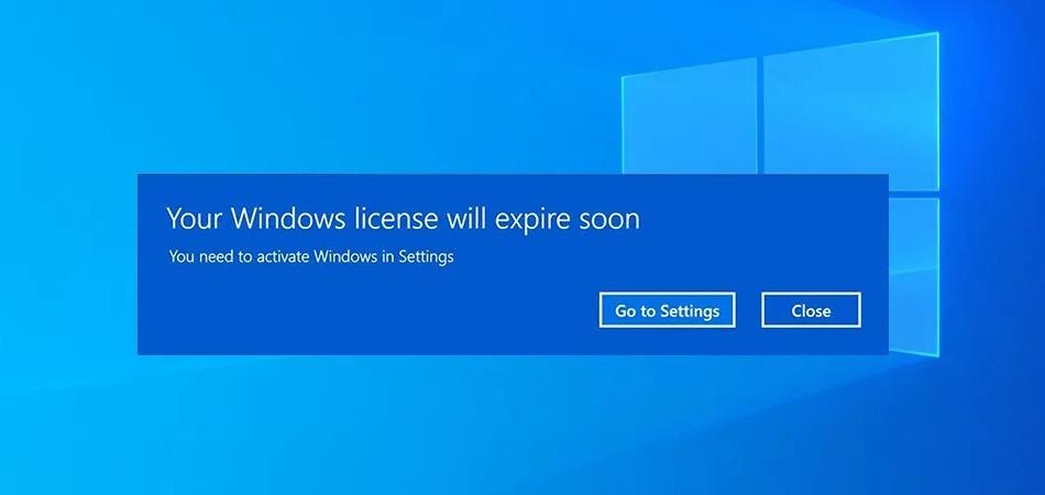 ارور Your Windows License Will expire soon